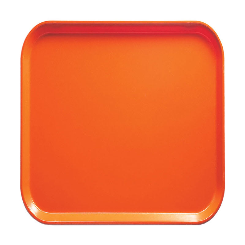 Cambro 1313220 33cm Square Serving Camtray - Citrus Orange