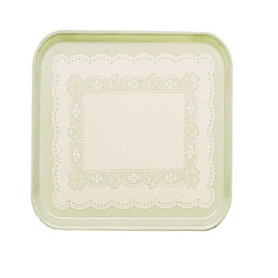 Cambro 1313241 33cm Square Serving Camtray - Doily Antique Parchment