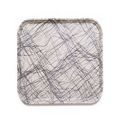 Cambro 1313277 33cm Square Serving Camtray - Swirl Gray