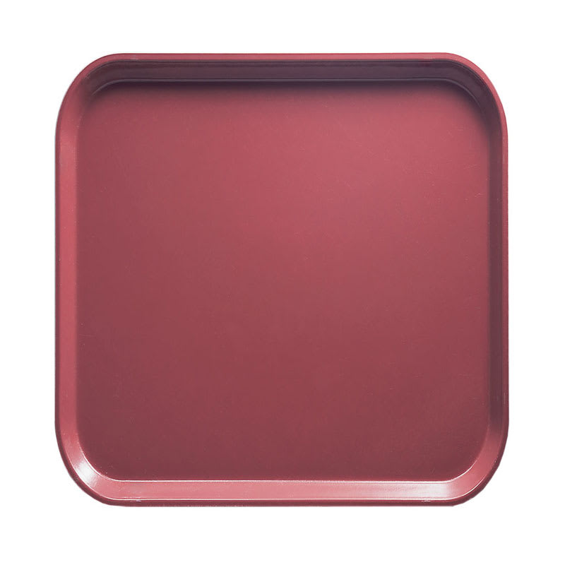 Cambro 1313410 33cm Square Serving Camtray - Raspberry Cream