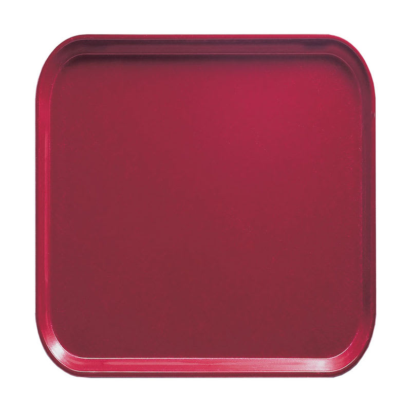 Cambro 1313505 33cm Square Serving Camtray - Cherry Red