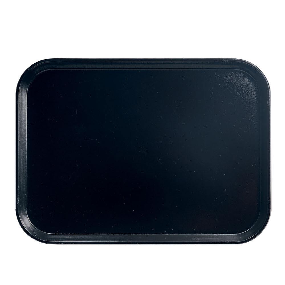 """Cambro 1318110 Fiberglass Camtray® Cafeteria Tray - 17.75""""L x 12.6""""W, Black"""
