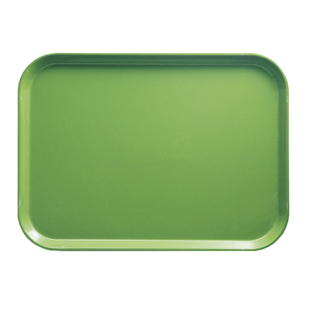 "Cambro 1318113 Fiberglass Camtray® Cafeteria Tray - 17.75""L x 12.6""W, Limeade"