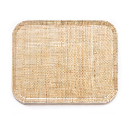 "Cambro 1318204 Rectangular Camtray - 12-5/8x17-3/4"" Rattan"