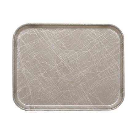 "Cambro 1318215 Fiberglass Camtray® Cafeteria Tray - 17.75""L x 12.6""W, Abstract Gray"