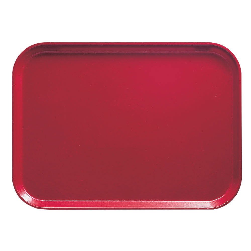 "Cambro 1318221 Rectangular Camtray - 12 5/8x17 3/4"" Ever Red"