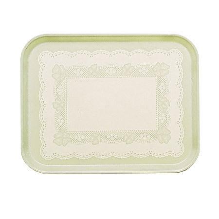 "Cambro 1318241 Rectangular Camtray - 12 5/8x17 3/4"" Doily Antique Parchment"
