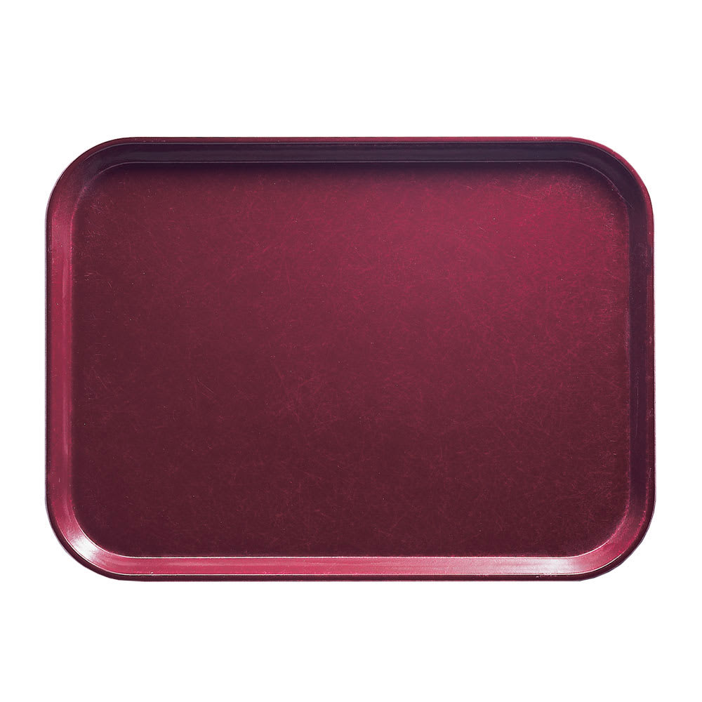 "Cambro 1318522 Rectangular Camtray - 12-5/8x17-3/4"" Burgundy Wine"