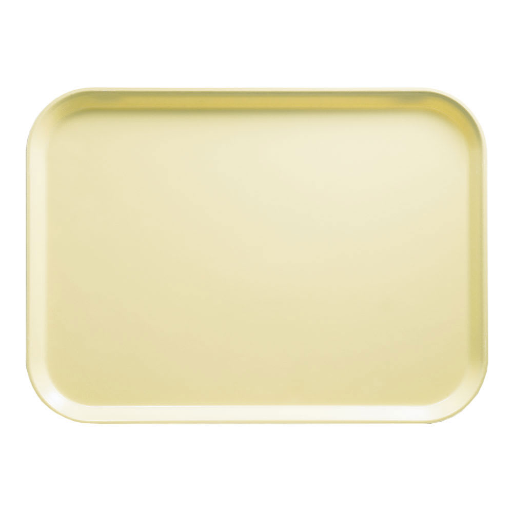 "Cambro 1318536 Rectangular Camtray - 12-5/8x17-3/4"" Lemon Chiffon"