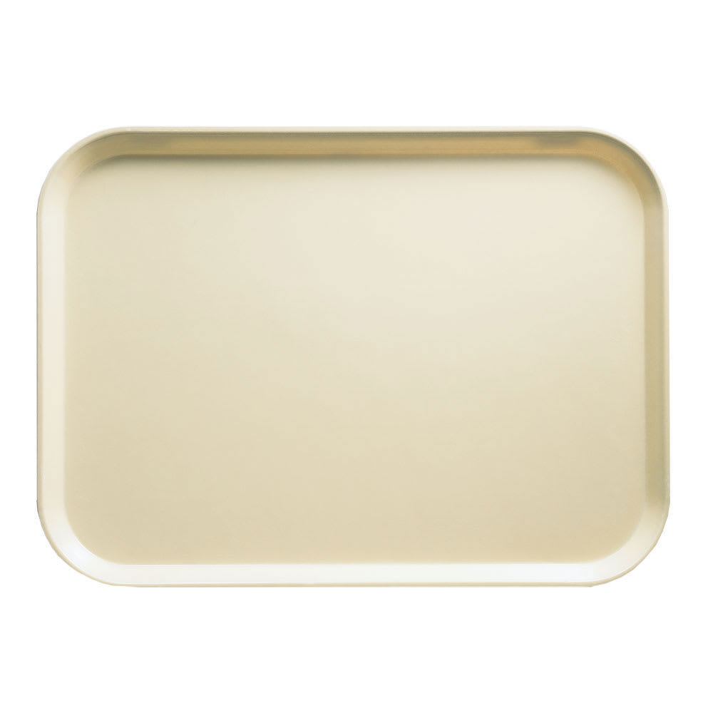 "Cambro 1318537 Rectangular Camtray - 12 5/8x17 3/4"" Cameo Yellow"