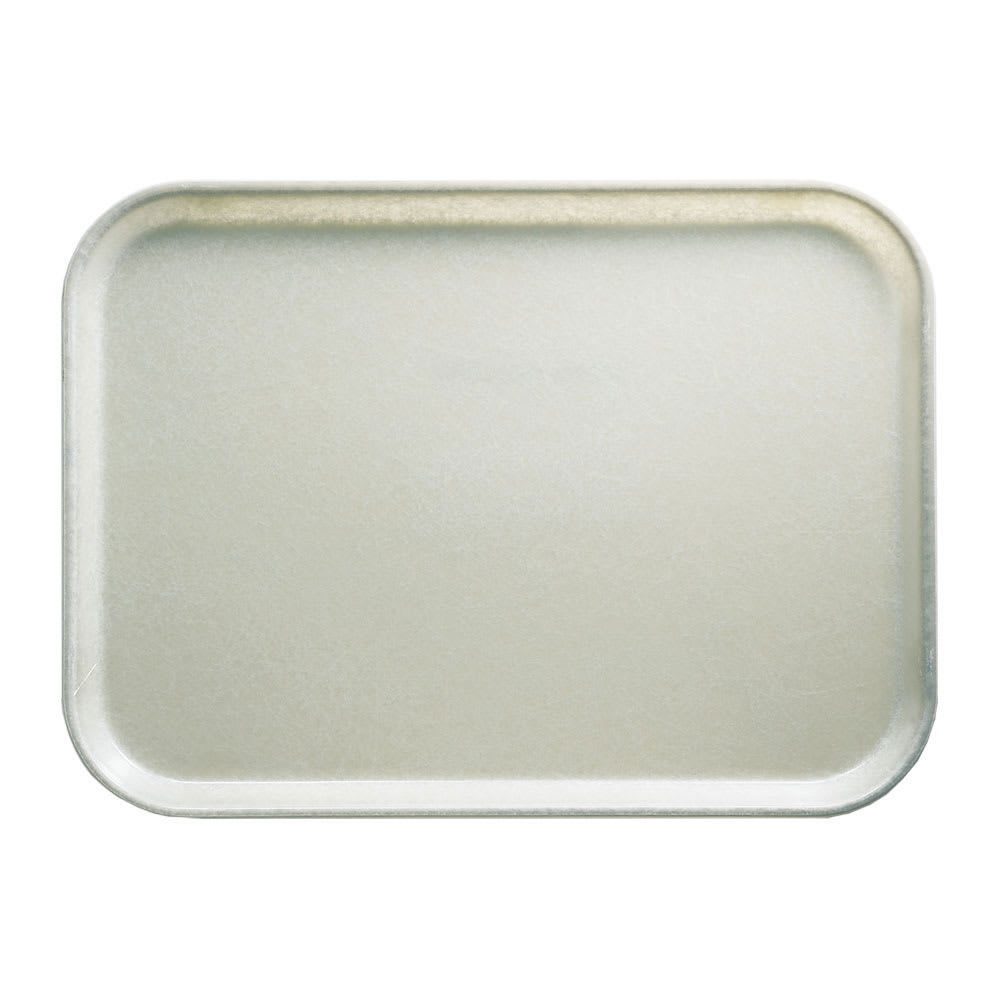 "Cambro 1418101 Fiberglass Camtray® Cafeteria Tray - 18""L x 14""W, Antique Parchment"