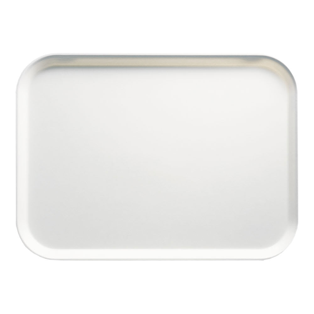 "Cambro 1418148 Rectangular Camtray - 14x18"" White"