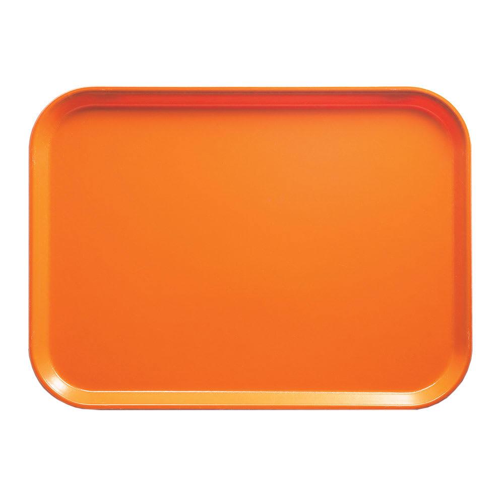 """Cambro 1418222 Rectangular Camtray - 14x18"""" Orange Pizzazz"""