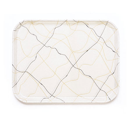 "Cambro 1418270 Rectangular Camtray - 14x18"" Swirl Black/Gold"