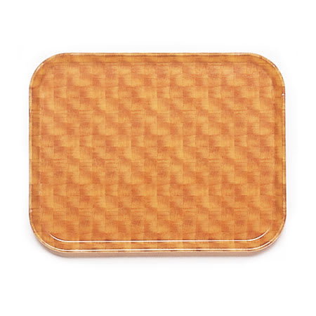 "Cambro 1418302 Fiberglass Camtray® Cafeteria Tray - 18""L x 14""W, Light Basketweave"