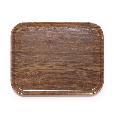 "Cambro 1418304 Fiberglass Camtray® Cafeteria Tray - 18""L x 14""W, Country Oak"