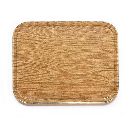 """Cambro 1418307 Fiberglass Camtray® Cafeteria Tray - 18""""L x 14""""W, Light Elm"""