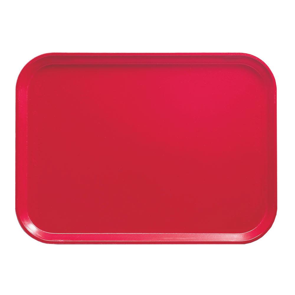 """Cambro 1418521 Fiberglass Camtray® Cafeteria Tray - 18""""L x 14""""W, Cambro Red"""