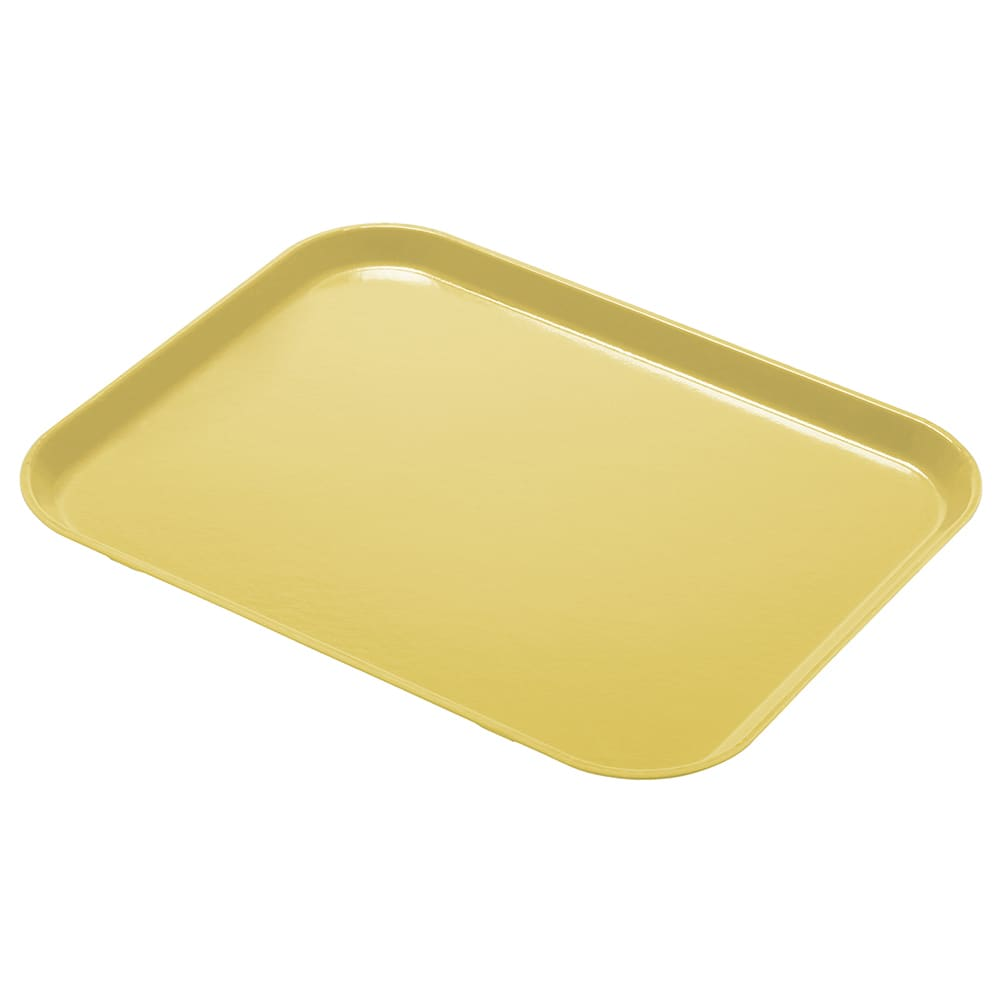 "Cambro 1418CL145 Rectangular Camlite Tray - 14x18"" Yellow"