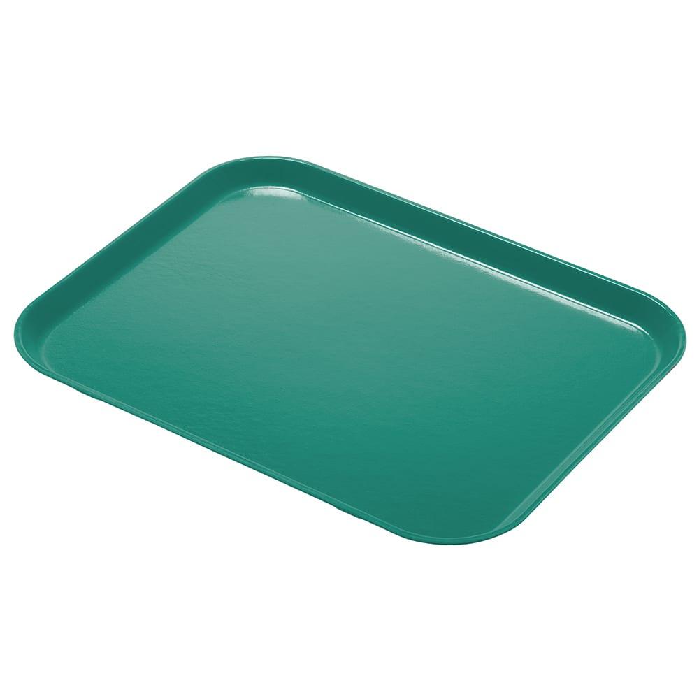 "Cambro 1418CL162 Fiberglass Camlite® Cafeteria Tray - 18""L  x 14""W, Green"