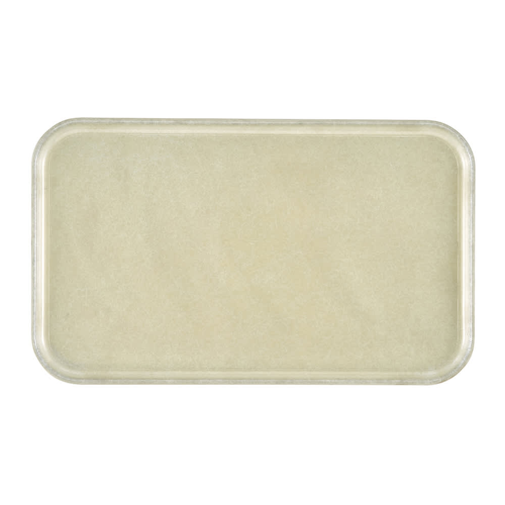 "Cambro 1418D101 Rectangular Dietary Tray - For Patient Feeding, 14x18"" Antique Parchment"