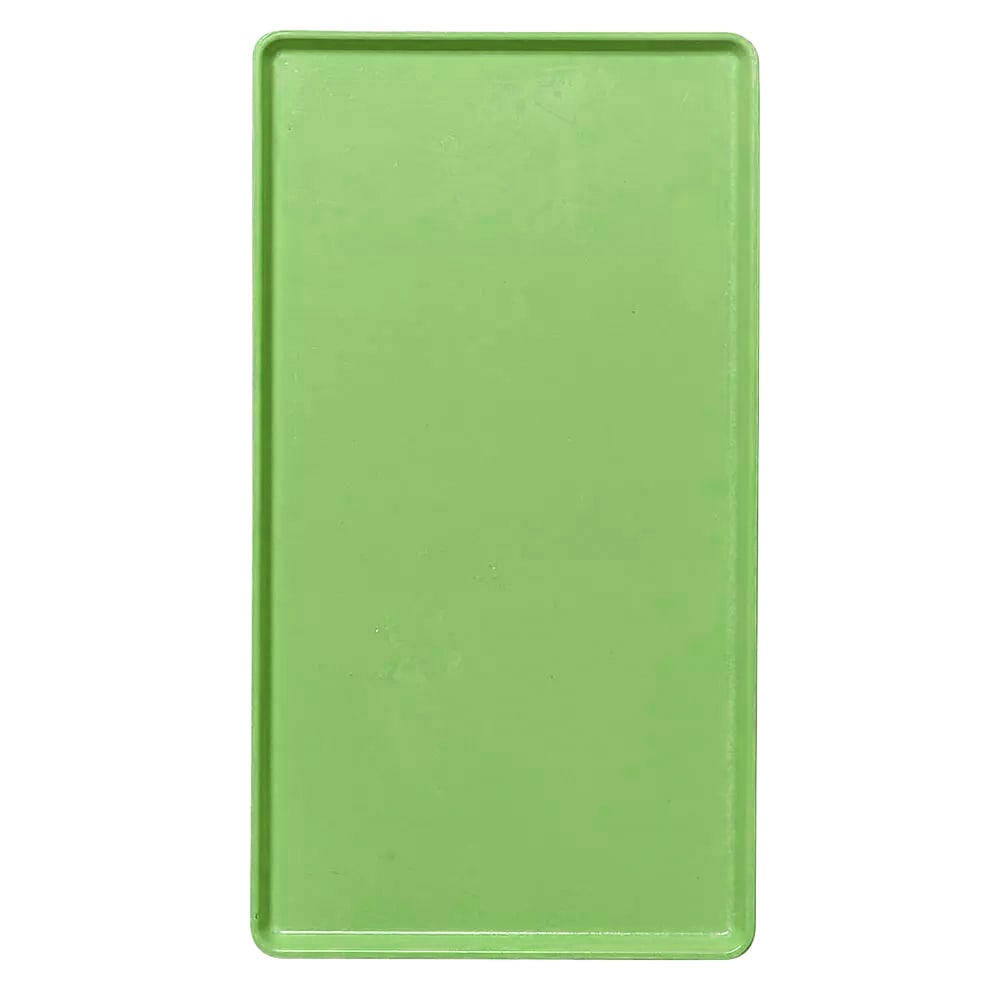 """Cambro 1418D113 Rectangular Dietary Tray - For Patient Feeding, 14x18"""" Limeade"""