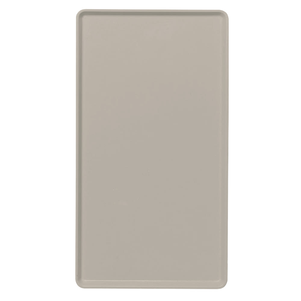 "Cambro 1418D199 Rectangular Dietary Tray - For Patient Feeding, 14x18"" Taupe"