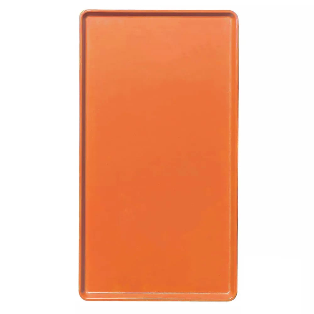 "Cambro 1418D220 Rectangular Dietary Tray - For Patient Feeding, 14x18"" Citrus Orange"