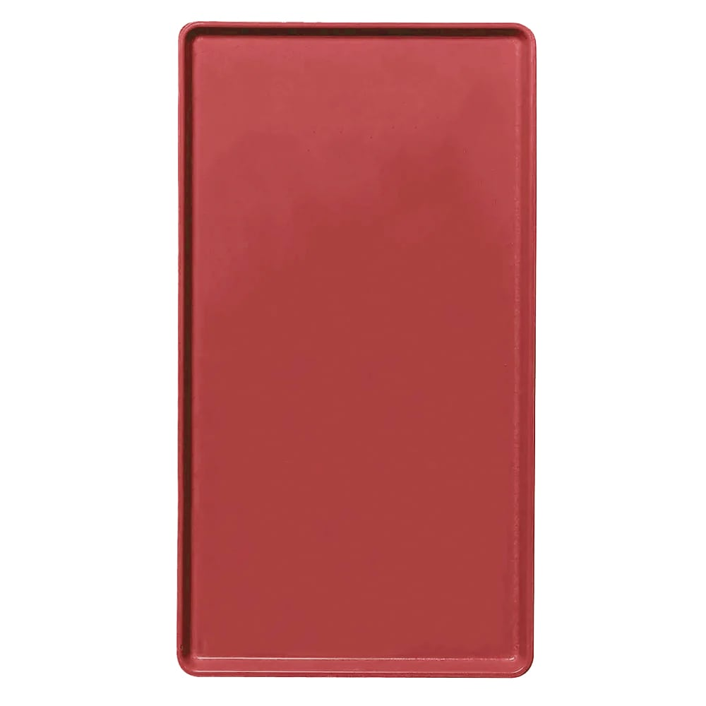 """Cambro 1418D221 Rectangular Dietary Tray - For Patient Feeding, 14x18"""" Ever Red"""