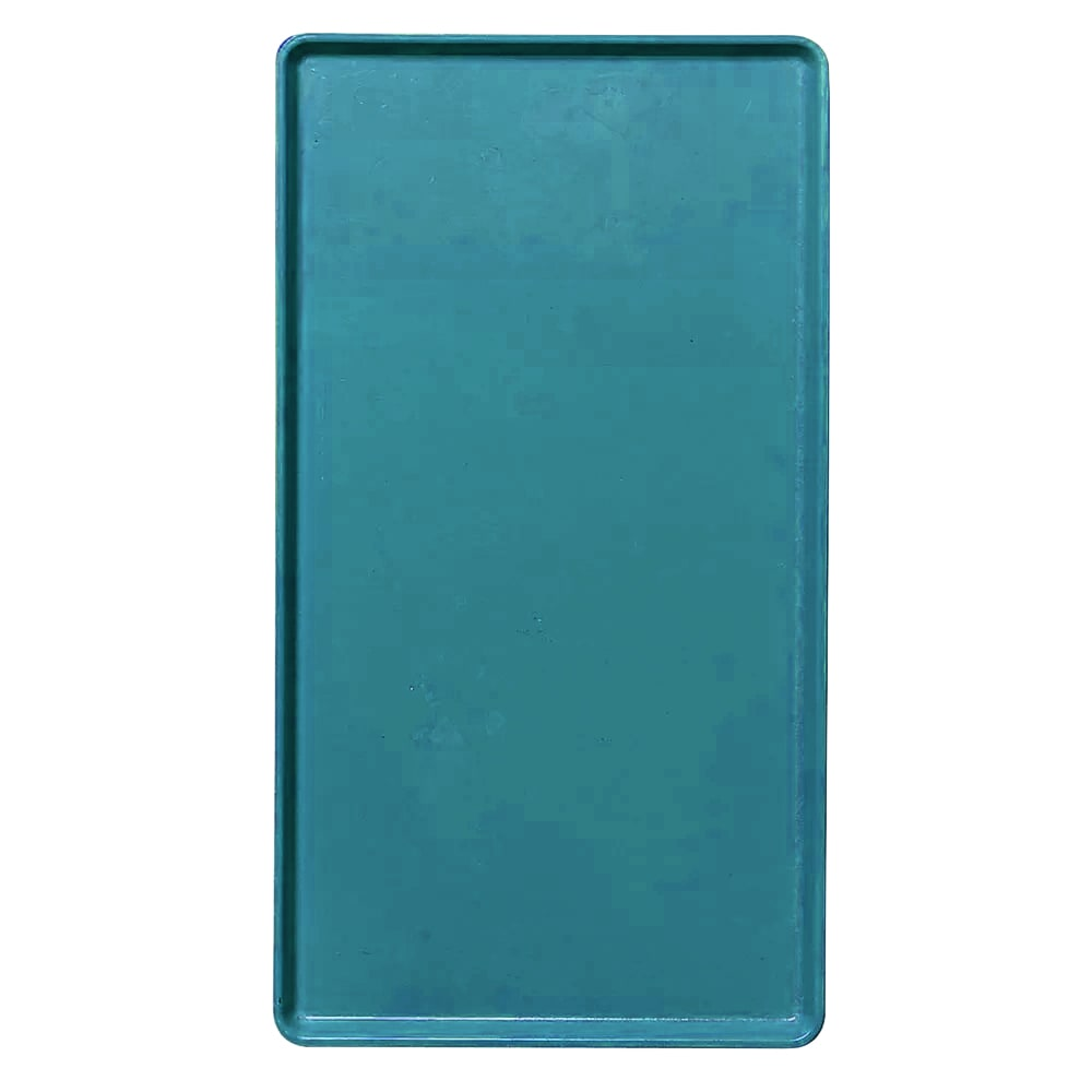 "Cambro 1418D414 Rectangular Dietary Tray - For Patient Feeding, 14x18"" Teal"