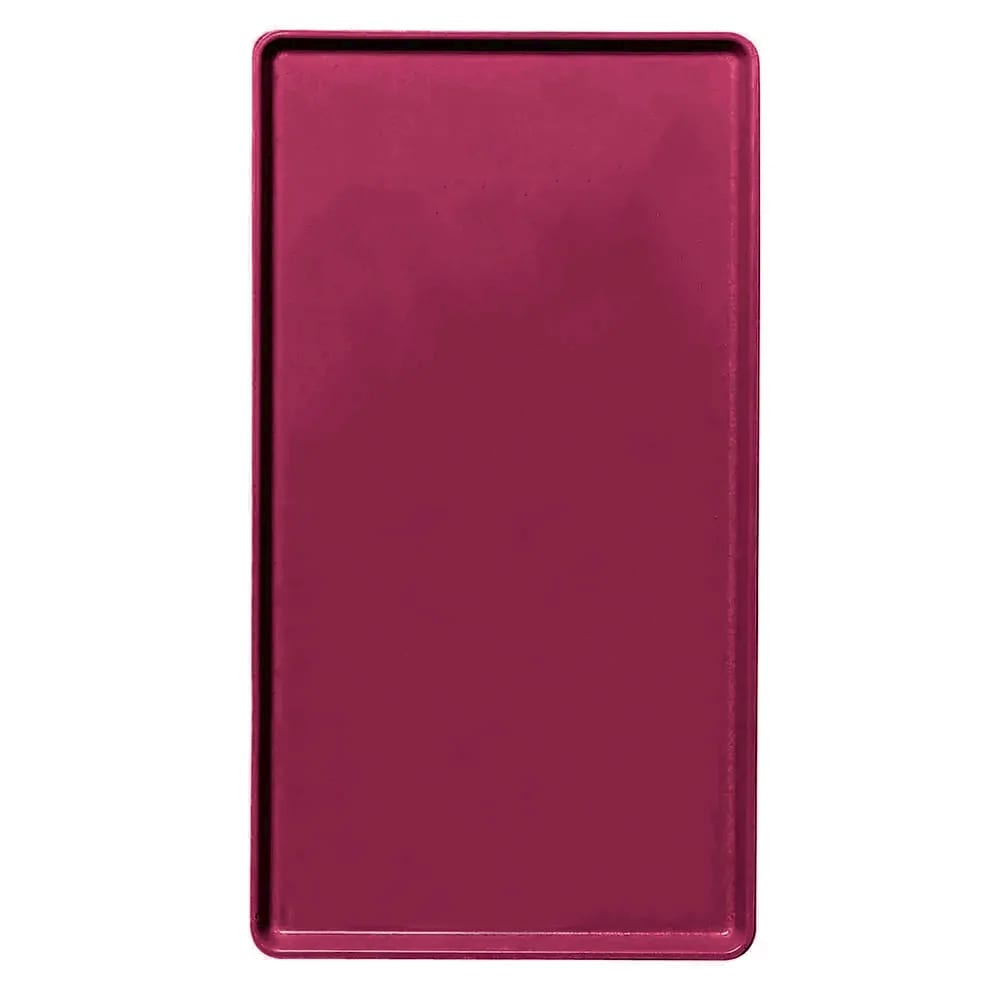 """Cambro 1418D522 Rectangular Dietary Tray - For Patient Feeding, 14x18"""" Burgundy Wine"""