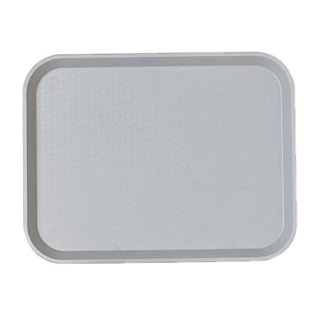 "Cambro 1418FF107 Rectangular Fast Food Tray - 13-13/16x17-3/4"" Pearl Gray"