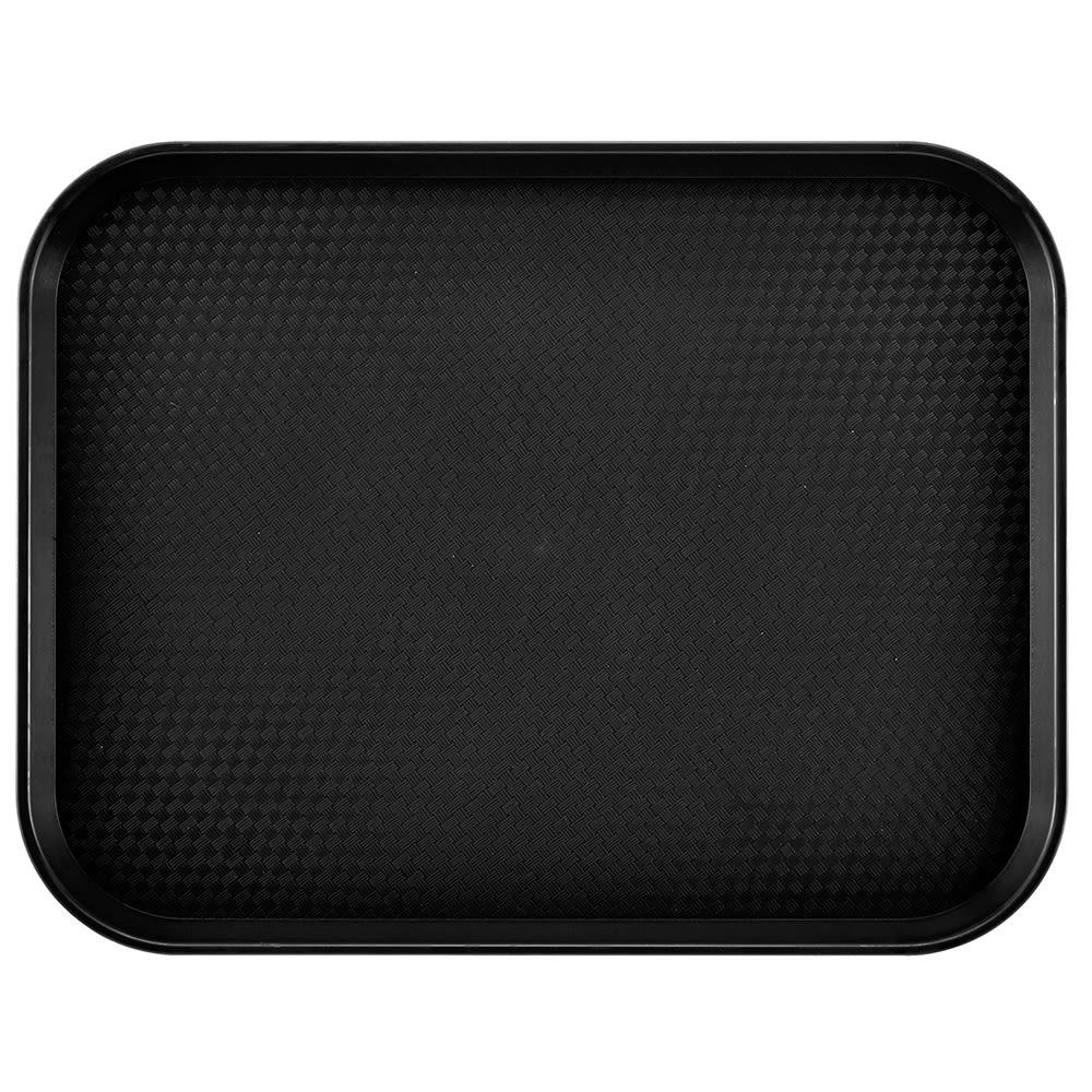 "Cambro 1418FF110 Rectangular Fast Food Tray - 13-13/16x17-3/4"" Black"