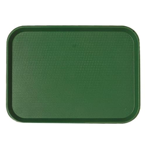 "Cambro 1418FF119 Rectangular Fast Food Tray - 13-13/16x17-3/4"" Sherwood Green"