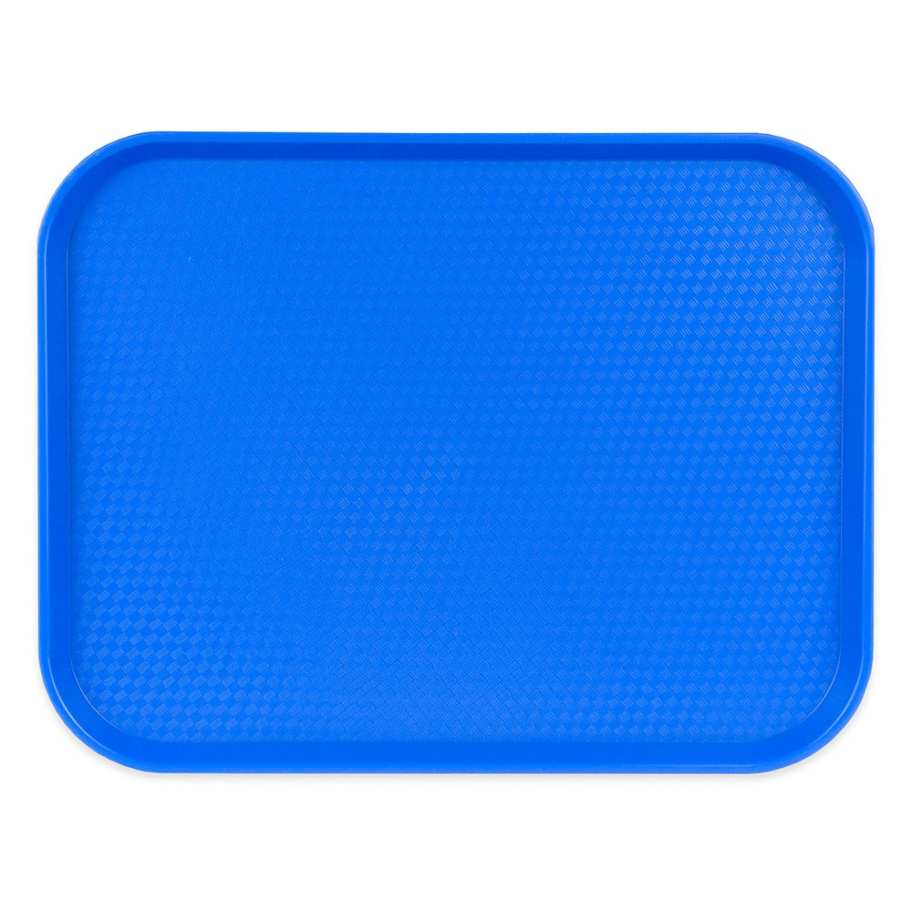 "Cambro 1418FF168 Rectangular Fast Food Tray - 13-13/16x17-3/4"" Blue"