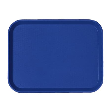 "Cambro 1418FF186 Rectangular Fast Food Tray - 13-13/16x17-3/4"" Navy Blue"