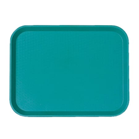 "Cambro 1418FF414 Rectangular Fast Food Tray - 13-13/16x17-3/4"" Teal"