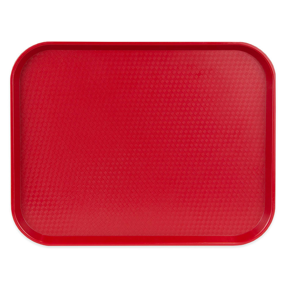 "Cambro 1418FF416 Rectangular Fast Food Tray - 13-13/16x17-3/4"" Cranberry"