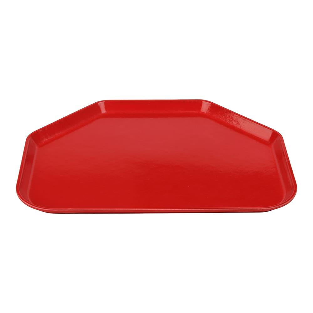 """Cambro 1418TR521 Fiberglass Camtray® Cafeteria Tray - 18""""L x 14""""W, Cambro Red"""