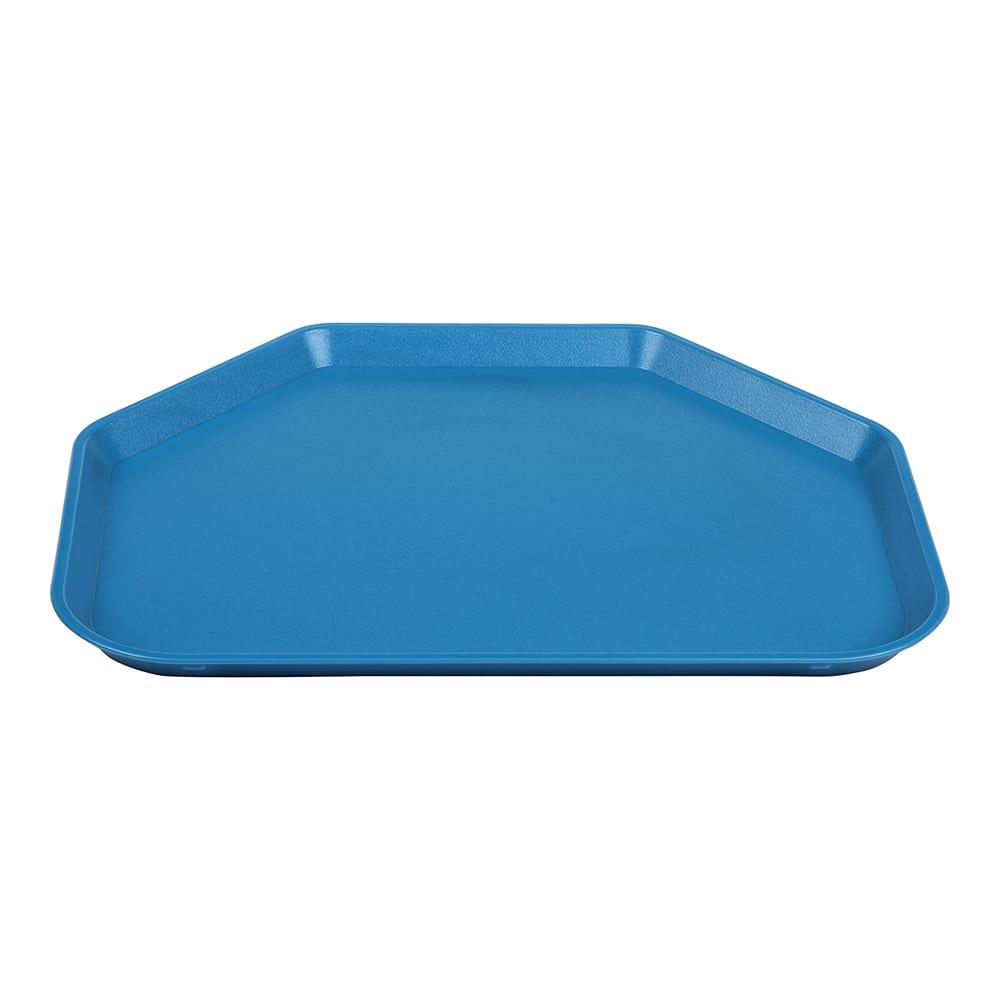 "Cambro 1418TRCW168 Plastic Cafeteria Tray - 18""L x 14""W, Blue"