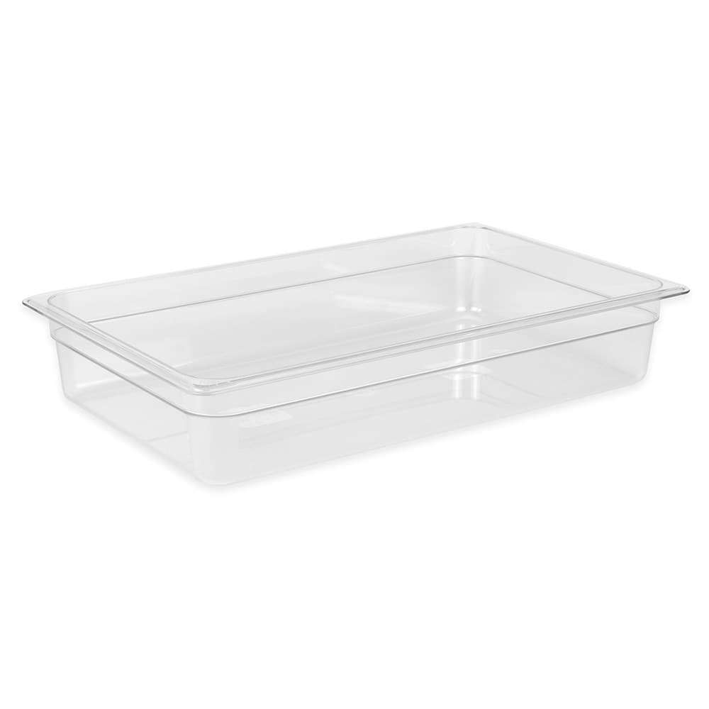 "Cambro 14CW135 Camwear Food Pan - Full Size, 4""D Clear"