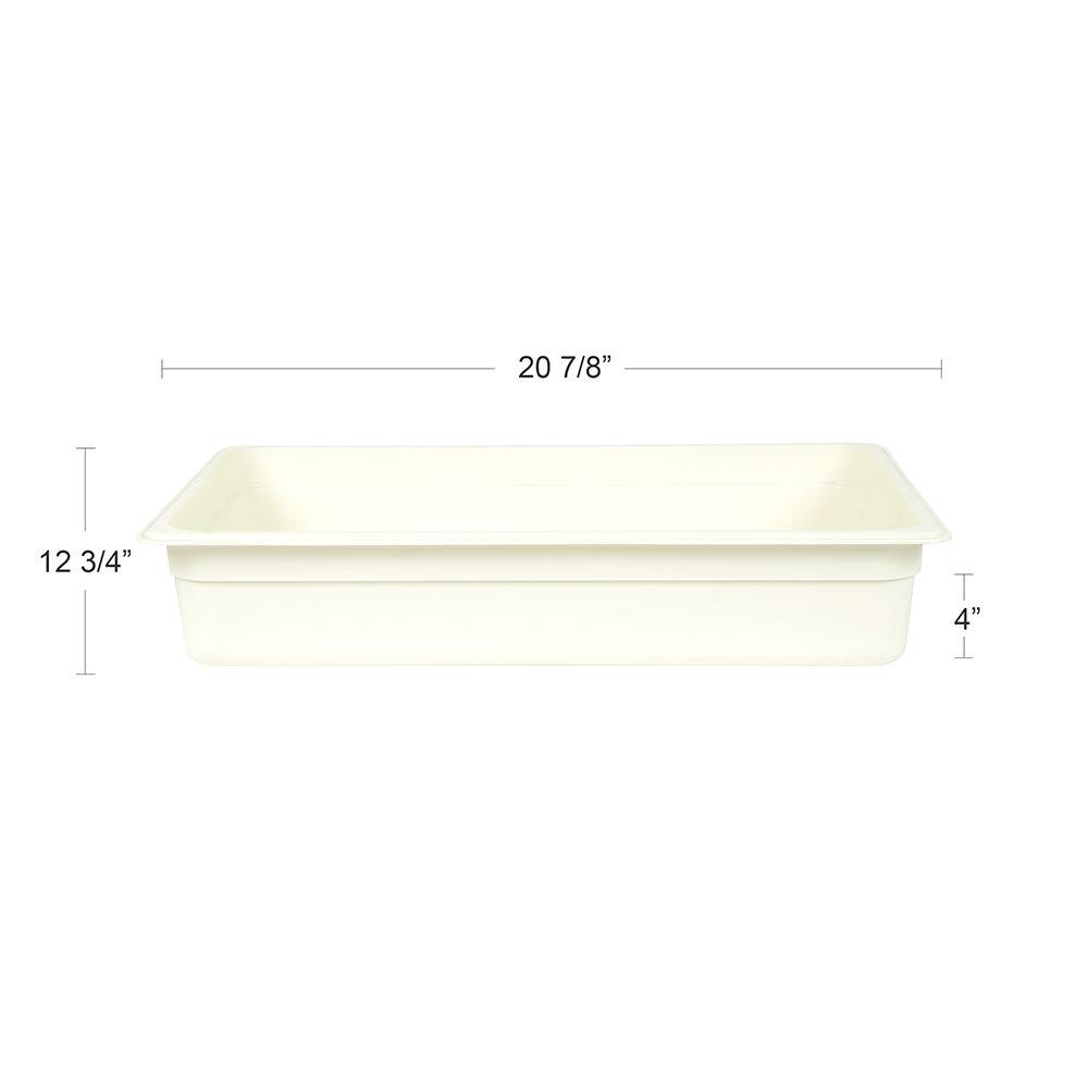 "Cambro 14CW148 Camwear Food Pan - Full Size, 4""D White"