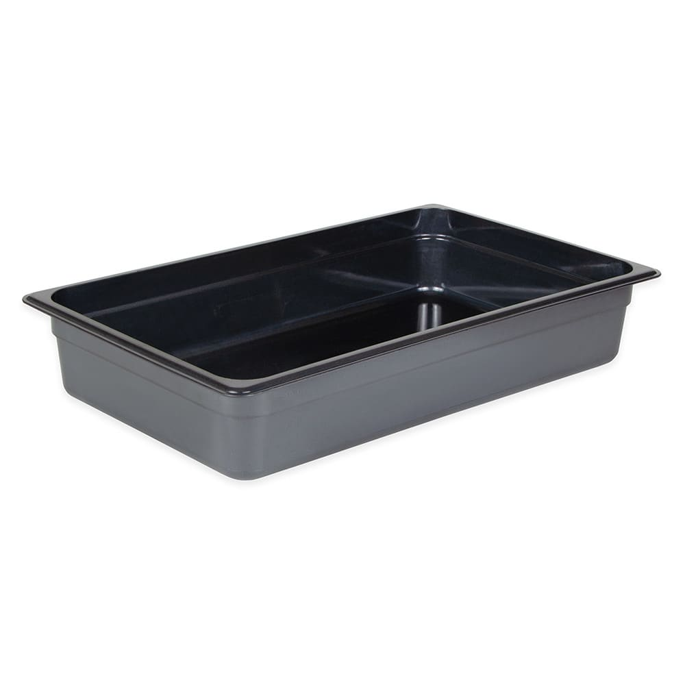 "Cambro 14HP771 X-Pan Hot Food Pan - Full Size, 4""D Non-Stick, Onyx"