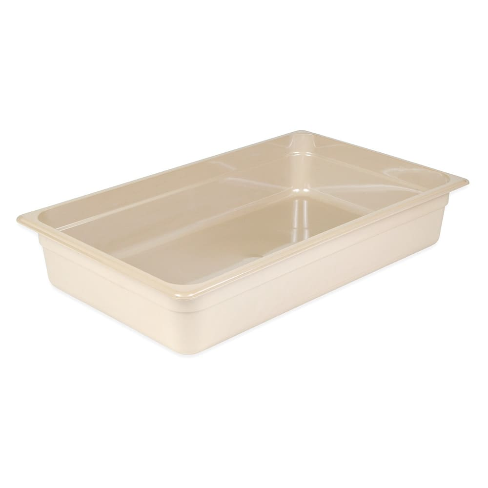 "Cambro 14HP772 High Heat Full Size Food Pan - 4""D, Sandstone"