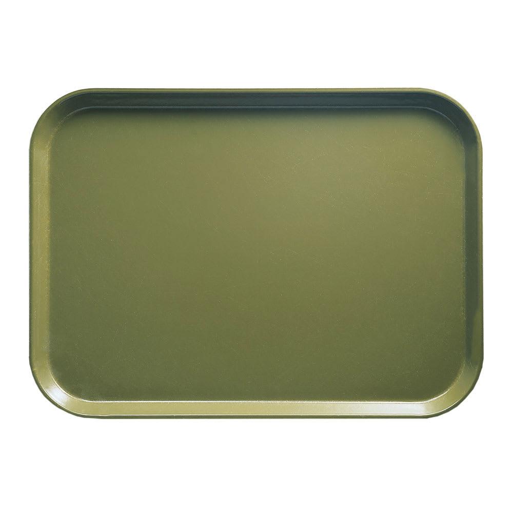 "Cambro 1520428 Rectangular Camtray - 15x20 1/4"" Olive Green"