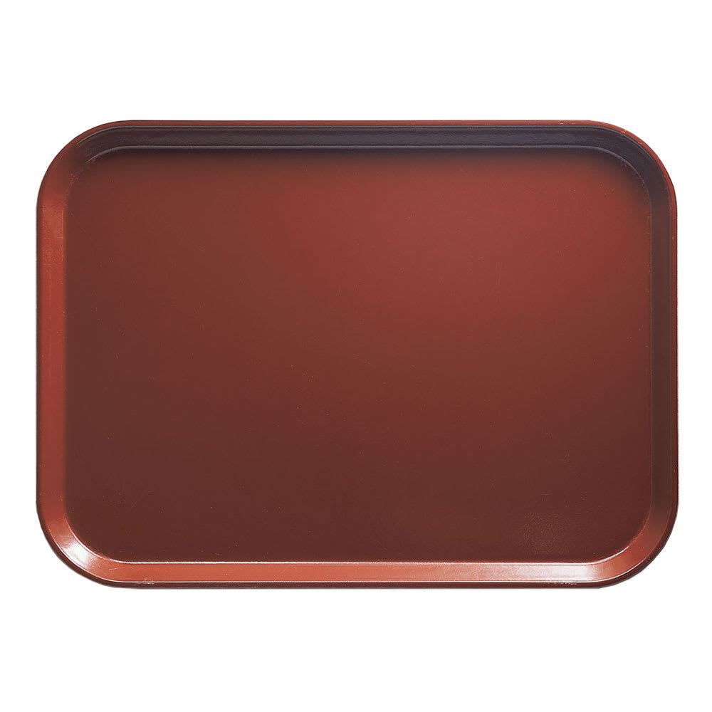 """Cambro 1520501 Fiberglass Camtray® Cafeteria Tray - 20.25""""L x 15""""W, Real Rust"""