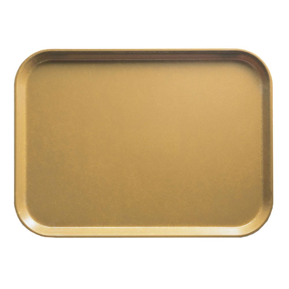 "Cambro 1520514 Fiberglass Camtray® Cafeteria Tray - 20.25""L x 15""W, Earthen Gold"