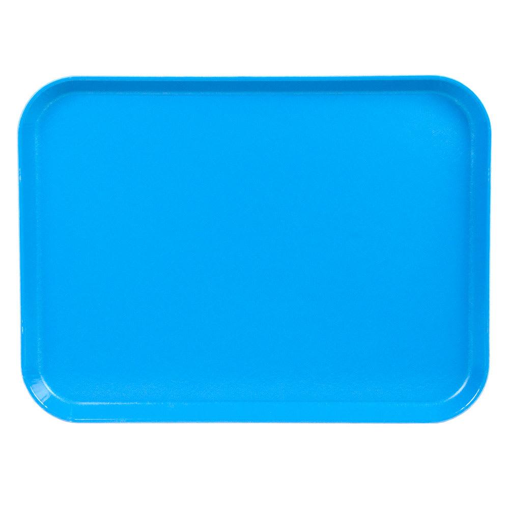 """Cambro 1520CL142 Rectangular Camlite Tray - 15x20-1/4"""" Blue"""