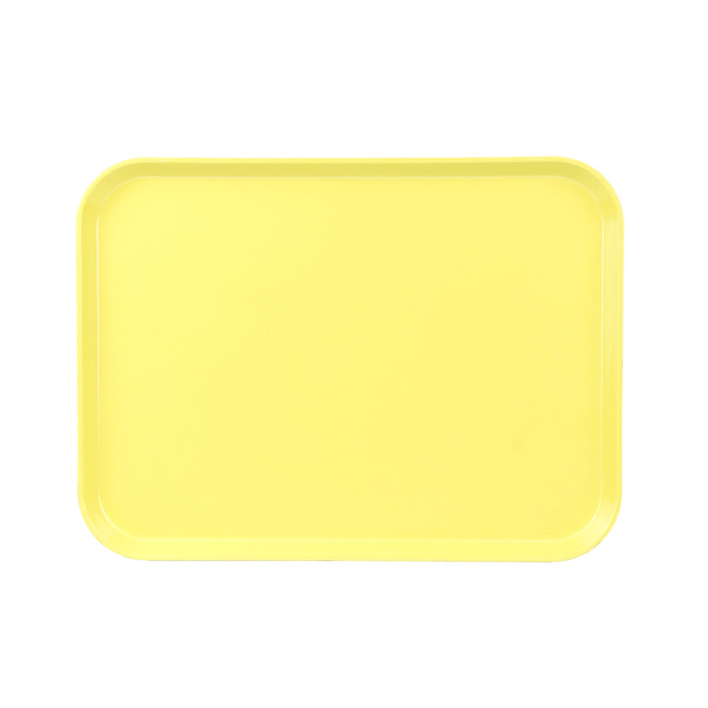 "Cambro 1520CL145 Rectangular Camlite Tray - 15x20-1/4"" Yellow"