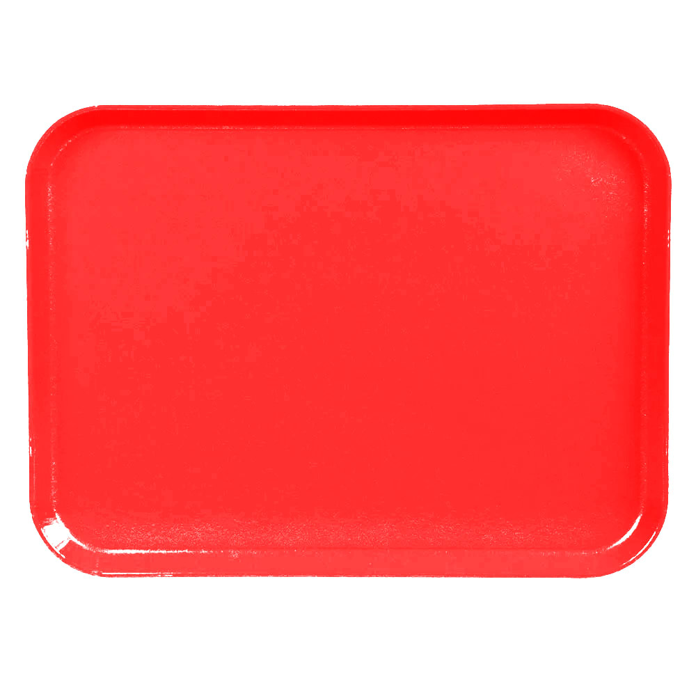 "Cambro 1520CL163 Rectangular Camlite Tray - 15x20-1/4"" Rose Red"